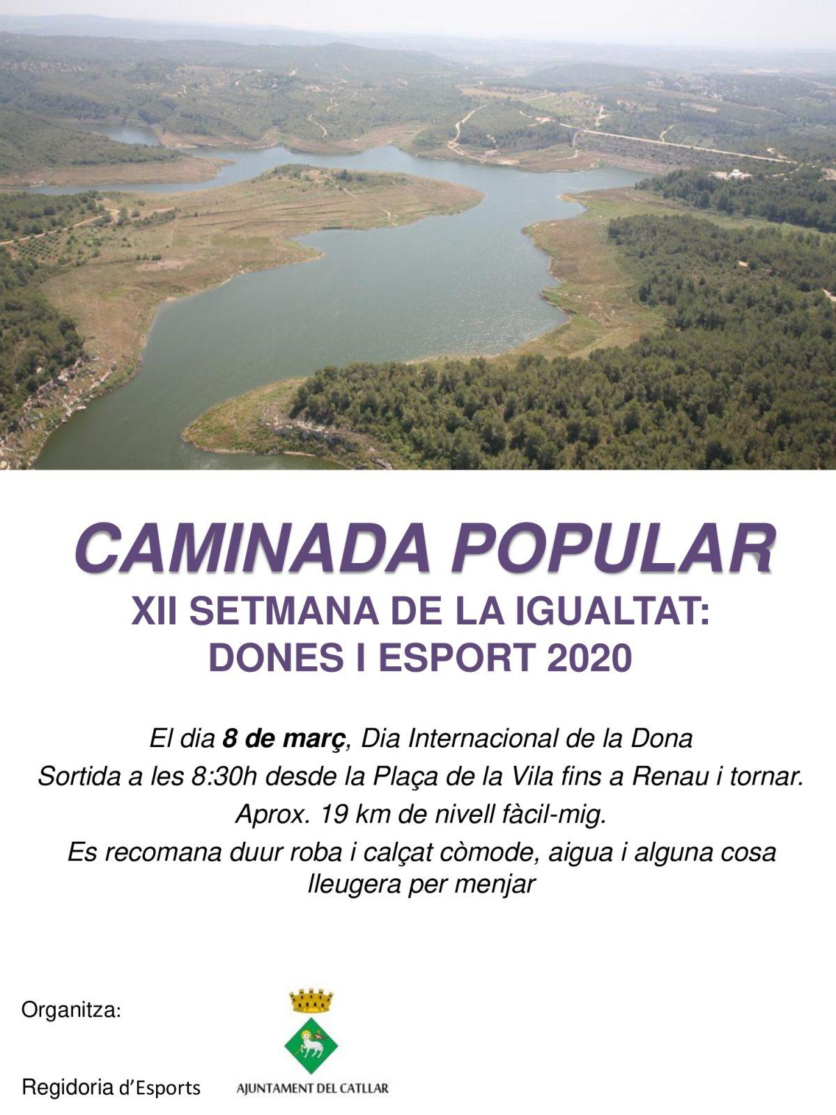 CAMINADA POPULAR: DONES I ESPORT 2020