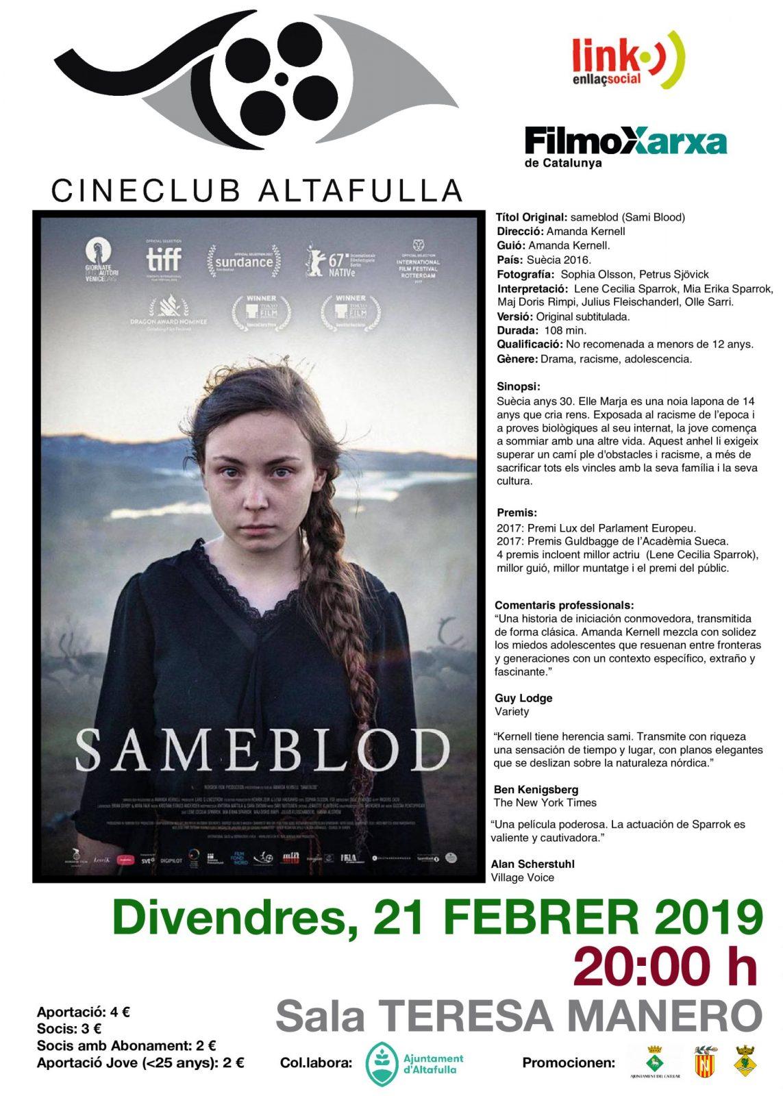 "CINEMA AL CINECLUB ALTAFULLA: ""SAMEBLOD"""