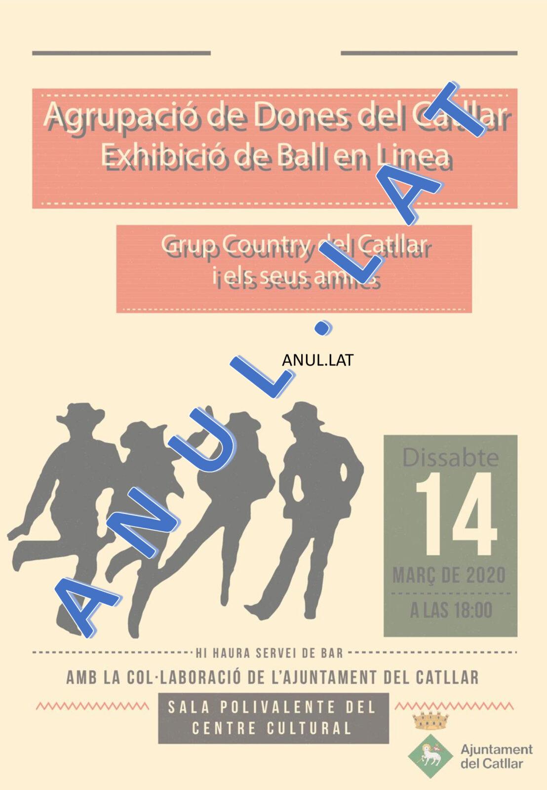ANUL.LACIÓ EXHIBICIÓ BALL EN LÍNIA