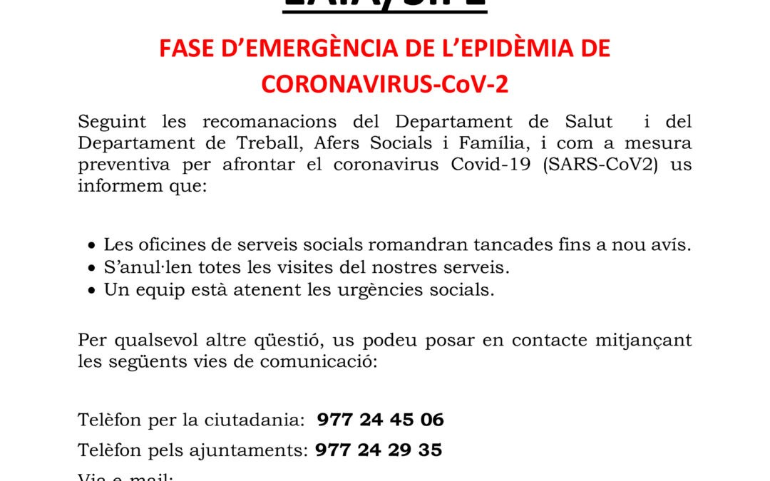 CCT – SERVEIS SOCIALS EAIA / SIFE