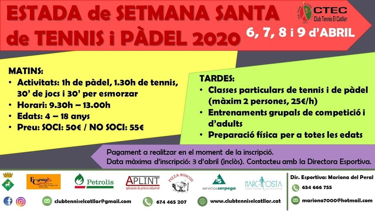ESTADA SETMANA SANTA CLUB TENNIS EL CATLLAR