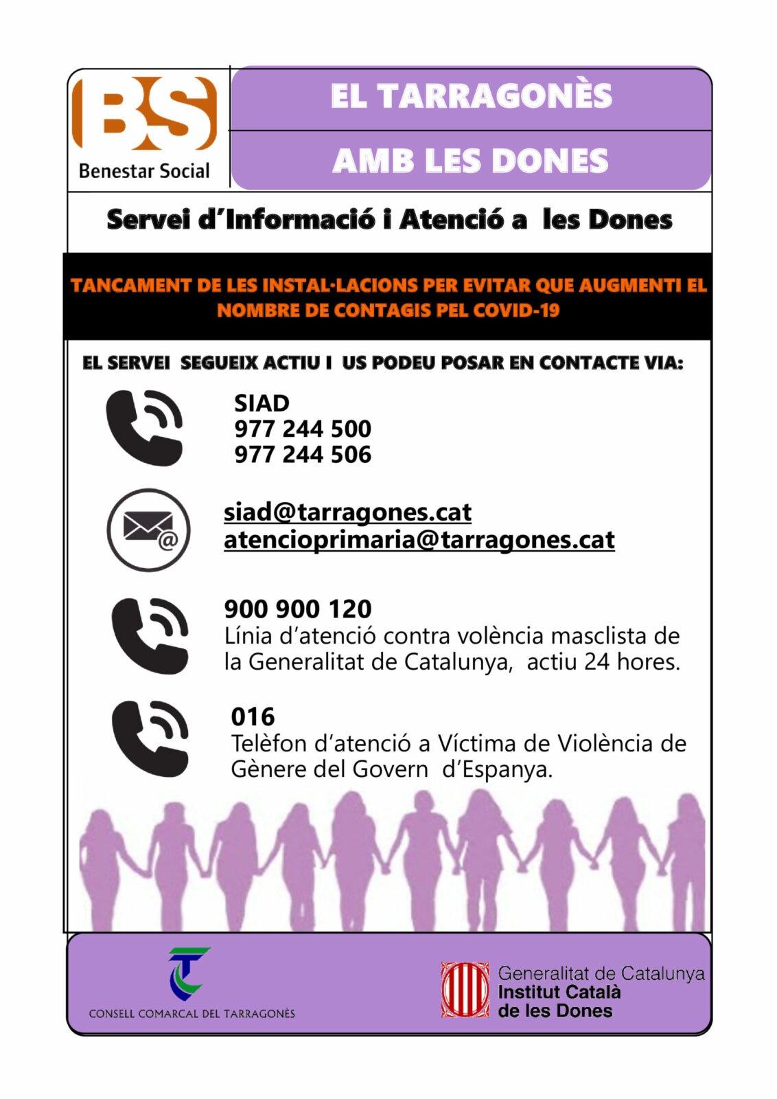 BENESTAR SOCIAL – SERVEI D'INFORMACIÓ I ATENCIÓ A LES DONES