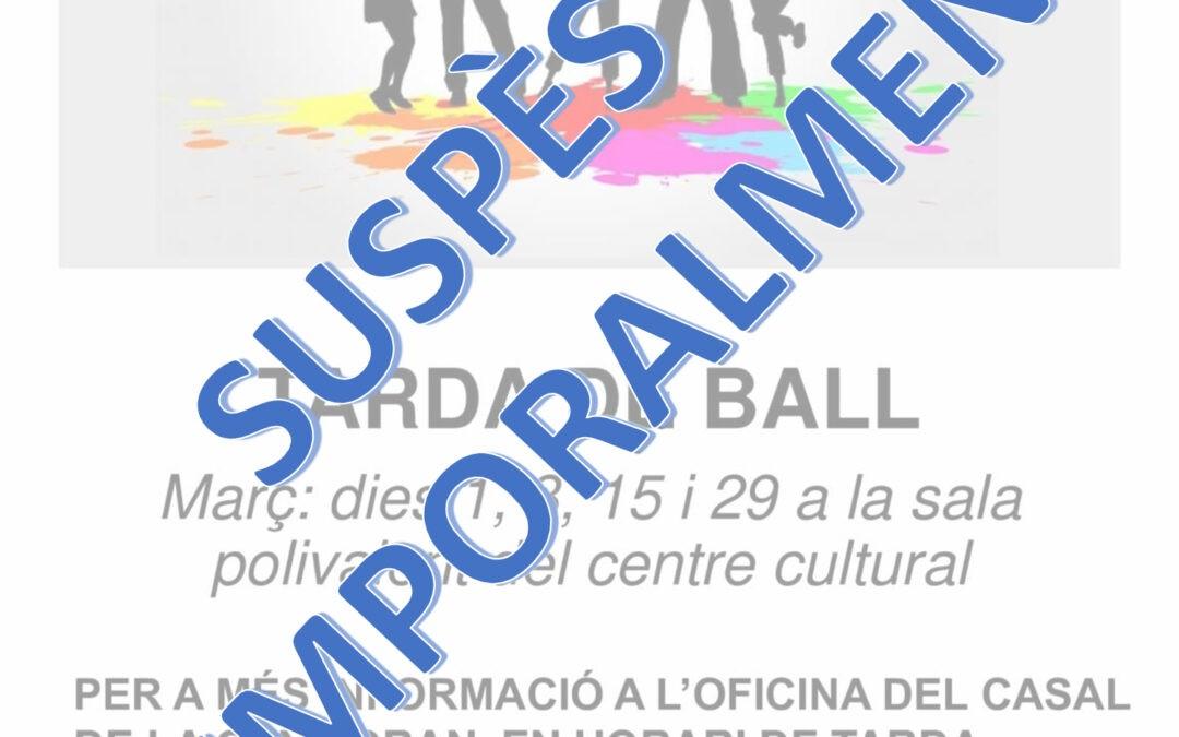 SUSPENSIÓN TEMPORAL DE LAS TARDES DE BAILE EN EL CENTRO CULTURAL