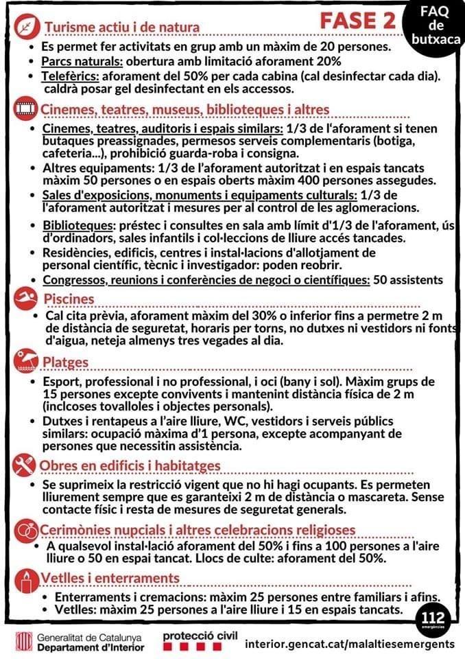 CAMBIOS EN LAS FASES DE DESCONFINAMIENTO – FASE 2  (INFOGRAFIA 2)