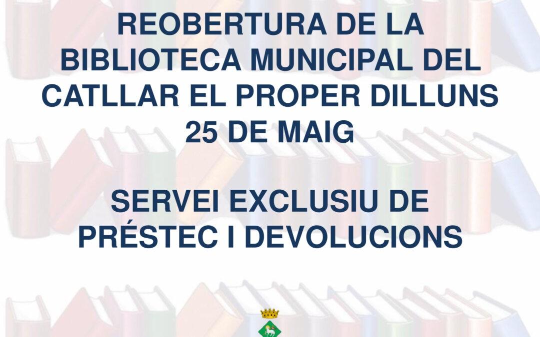 REAPERTURA BIBLIOTECA MUNICIPAL DEL CATLLAR