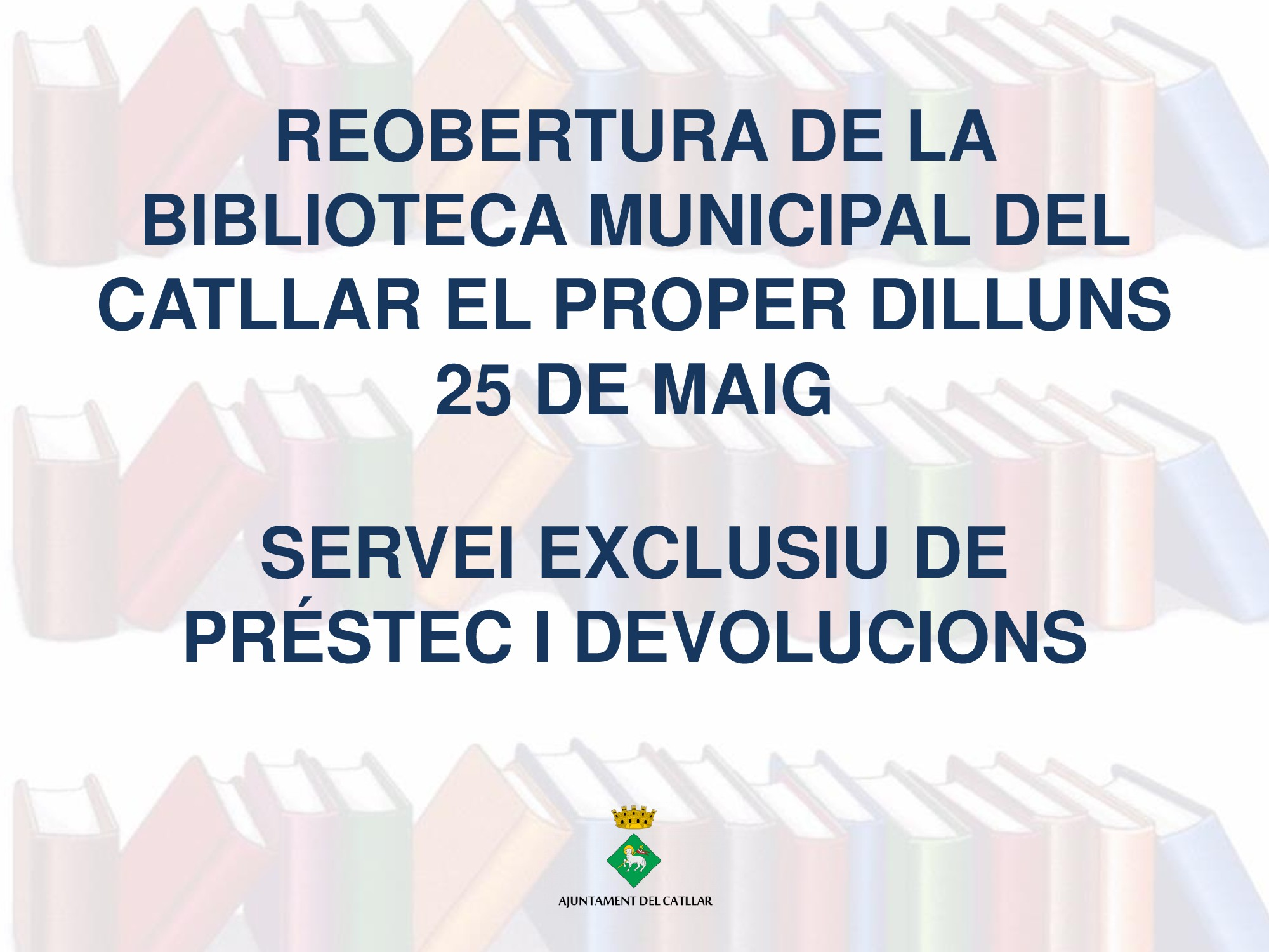REOBERTURA BIBLIOTECA MUNICIPAL DEL CATLLAR