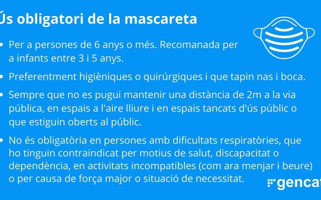 USO OBLIGATORIO DE MASCARILLA A PARTIR DEL 21/05/2020