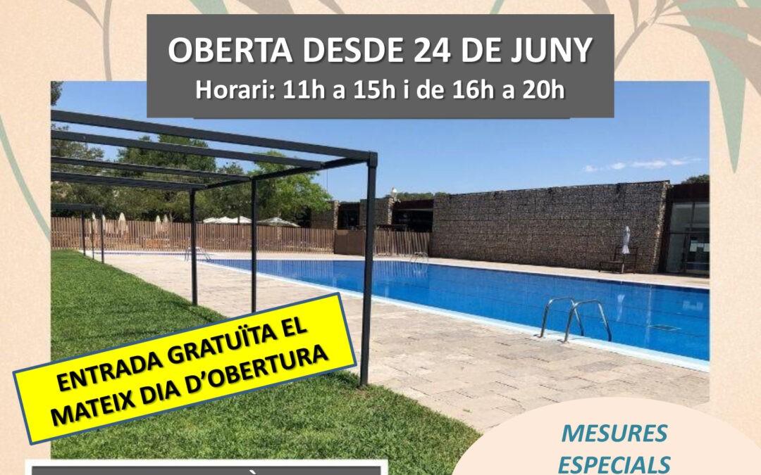OBERTURA PISCINA MUNICIPAL 24 DE JUNY DE 2020
