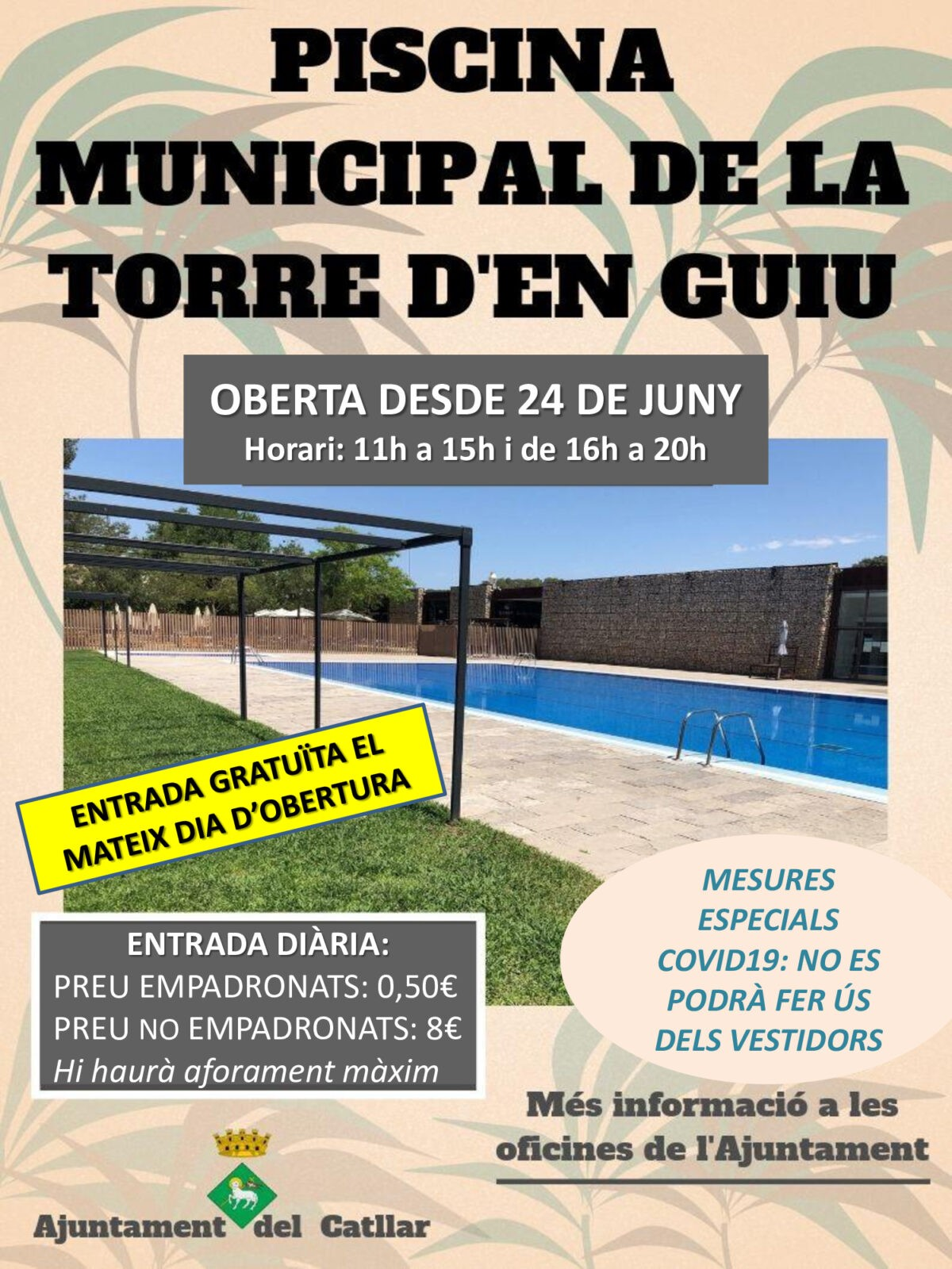 APERTURA PISCINA MUNICIPAL 24 DE JUNIO DE 2020
