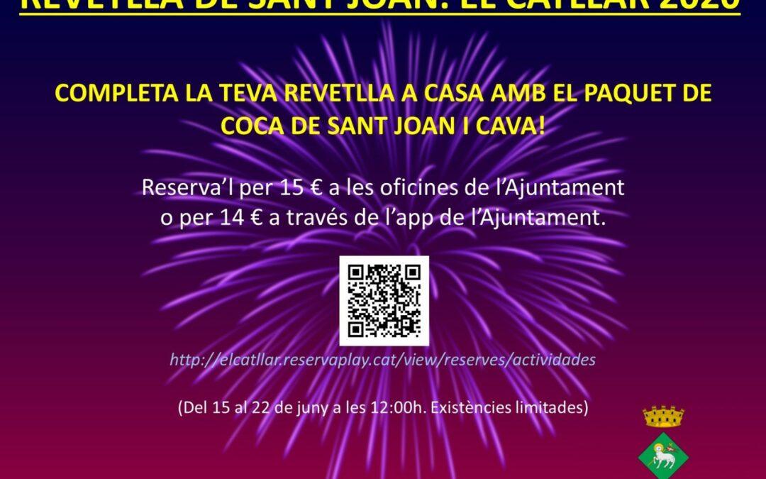 PAQUETE DE COCA DE SAN JUAN Y CAVA – VERBENA 2020