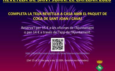 PAQUET DE COCA DE SANT JOAN I CAVA – REVETLLA 2020