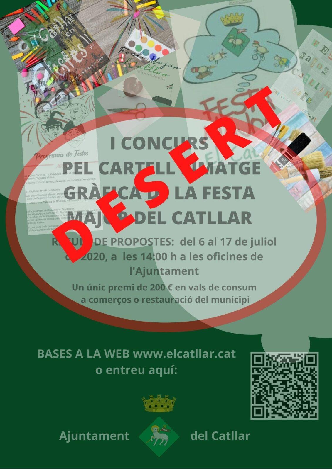 EL CONCURS PEL CARTELL I IMATGE GRÀFICA DE LA FESTA MAJOR D'ENGUANY, ES DECLARA DESERT
