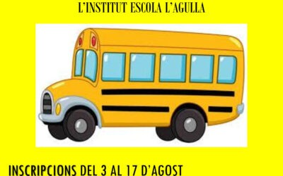 INSCRIPCIONS TRANSPORT ESCOLAR 2020-2021