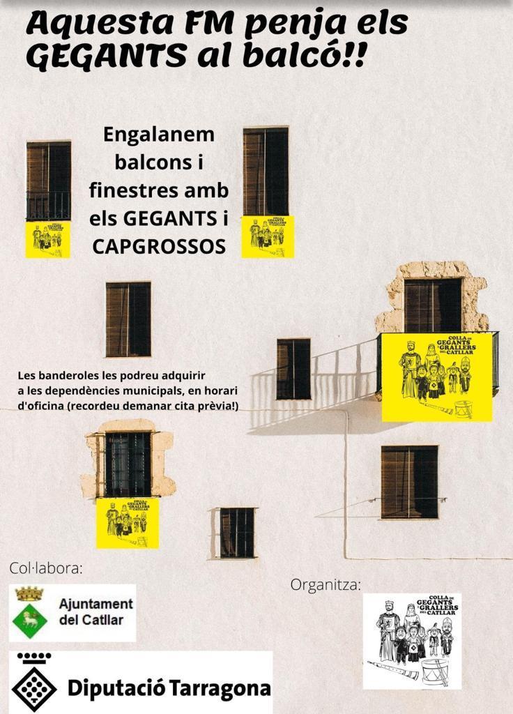 VENTA DE BANDEROLAS DE LA COLLA DE GEGANTS I GRALLERS DEL CATLLAR