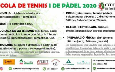 Escuela de tenis i pádel 2020-2021