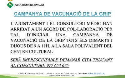 CAMPANYA DE VACUNACIÓ DE LA GRIP