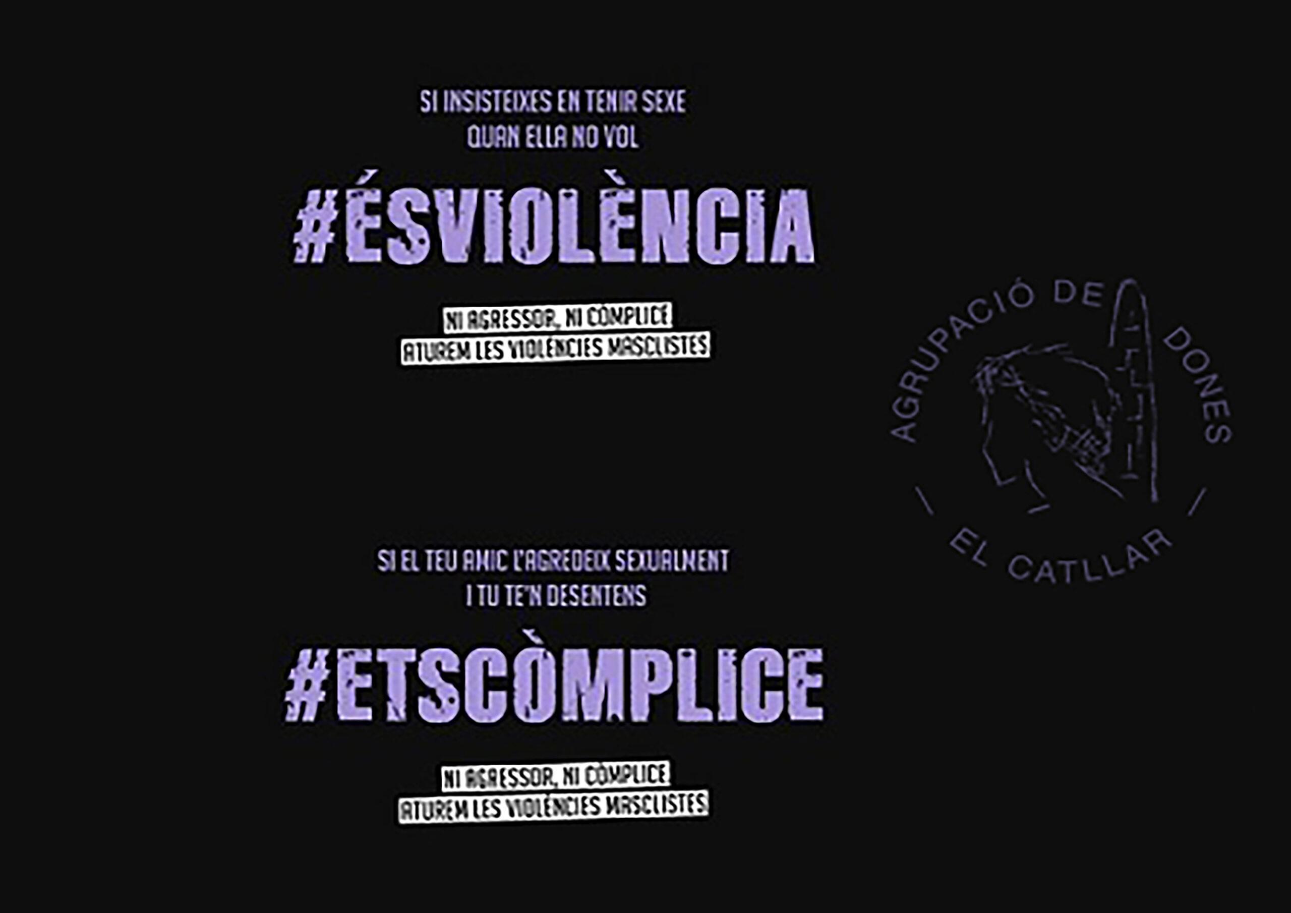 25N DIA INTERNACIONAL PER A L'ELIMINACIÓ DE LA VIOLÈNCIA DE GÈNERE – AGRUPACIÓ DE DONES DEL CATLLAR