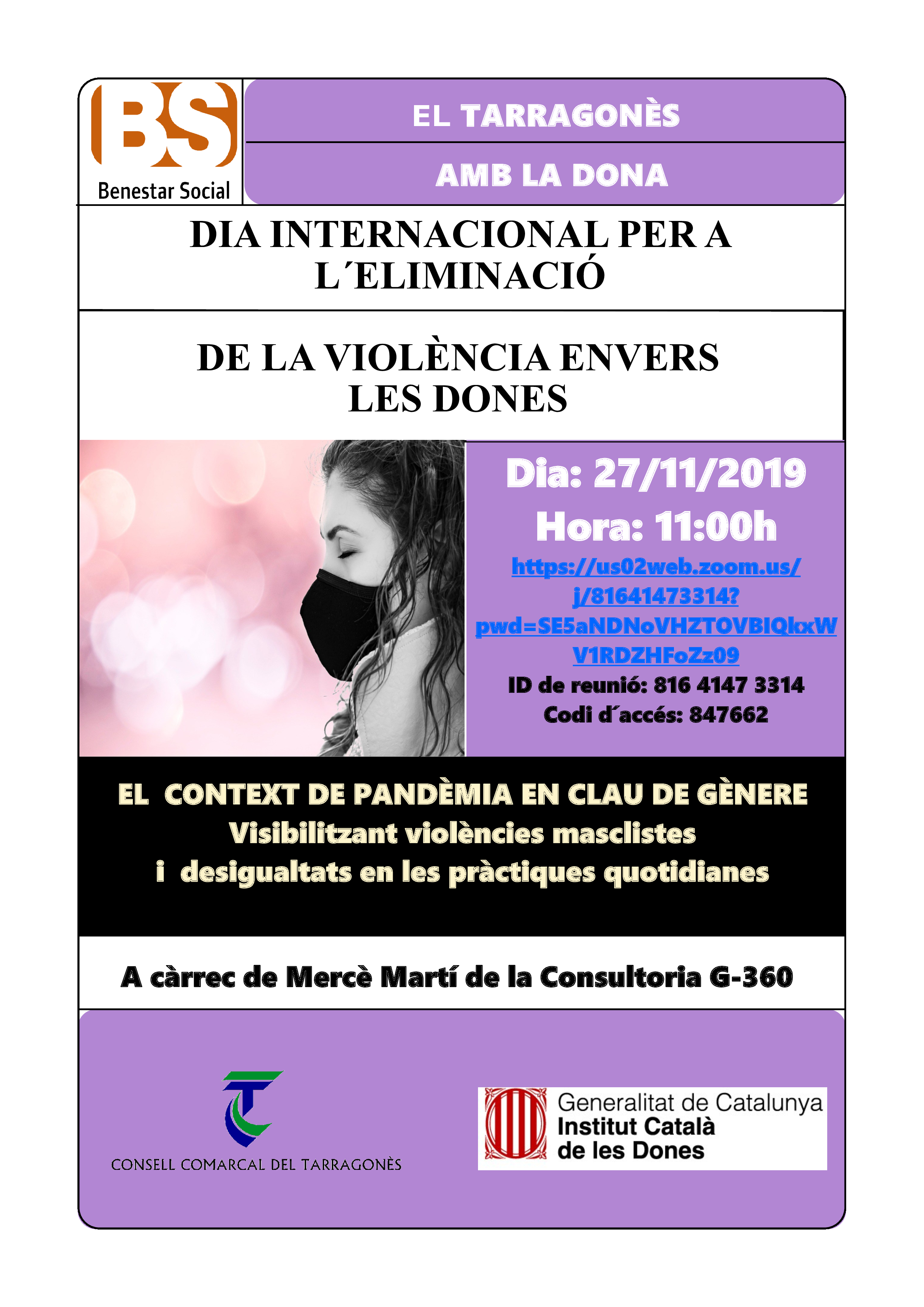 CONSELL COMARCAL DEL TARRAGONÈS - 25N DIA INTERNACIONAL DE L'ELIMINACIÓ DE LA VIOLÈNCIA ENVERS LES DONES