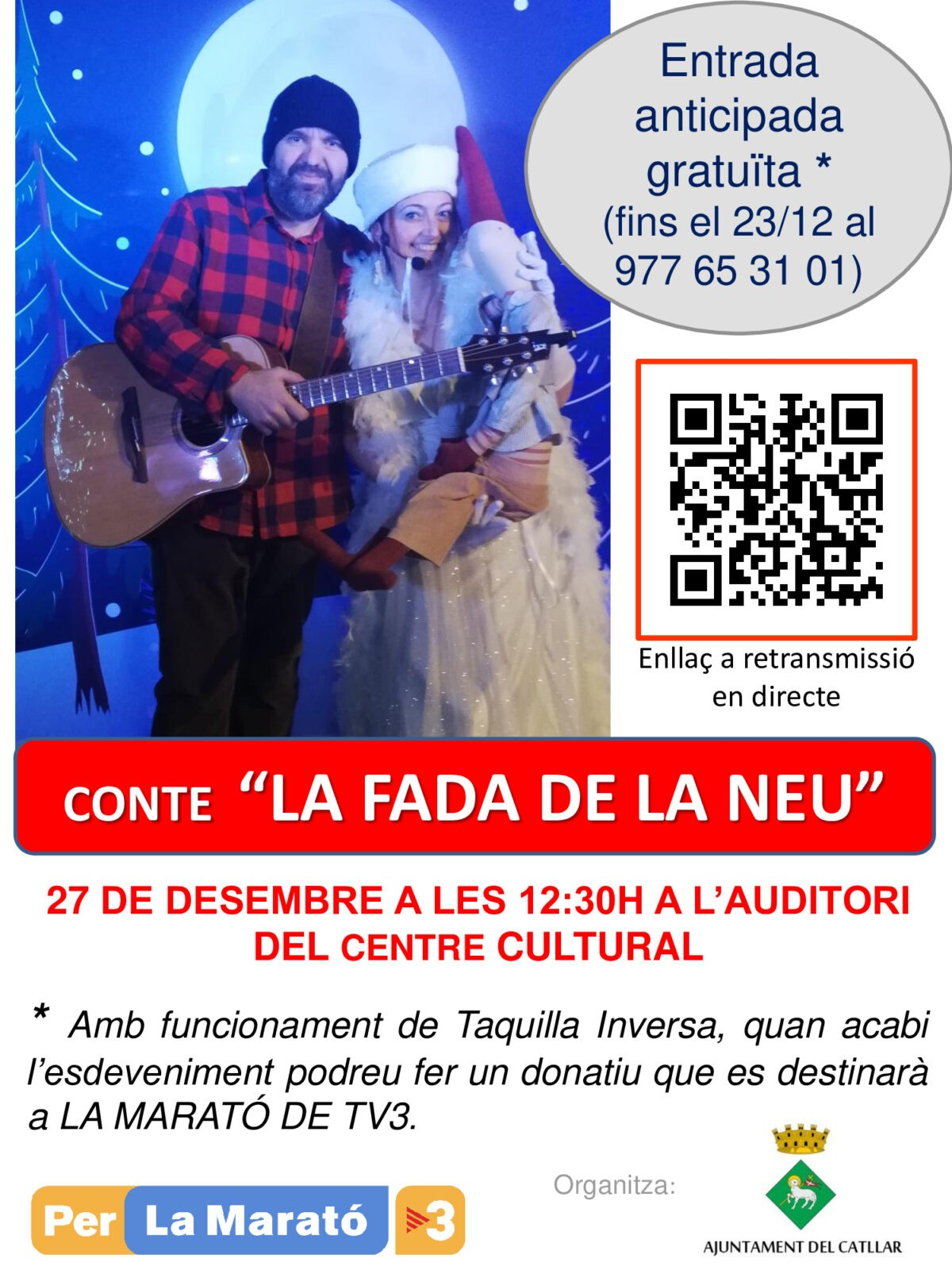 "CONTE ""LA FADA DE LA NEU"" - AUDITORI CENTRE CULTURAL"