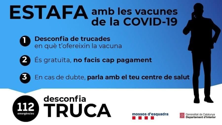 ATENCIÓN – ESTAFA CON LAS VACUNAS DE COVID-19