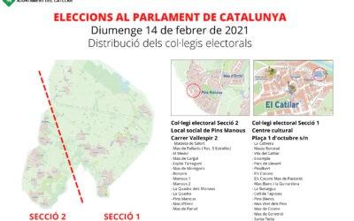AVÍS ERRADA A LA PUBLICACIÓ DE LA DISTRIBUCIÓ DELS COL·LEGIS ELECTORALS