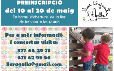PREINSCRIPCIÓ LLAR D'INFANTS MUNICIPAL L'AGULLA