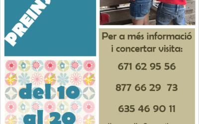 PREINSCRIPCIÓN GUARDERÍA MUNICIPAL L'AGULLA