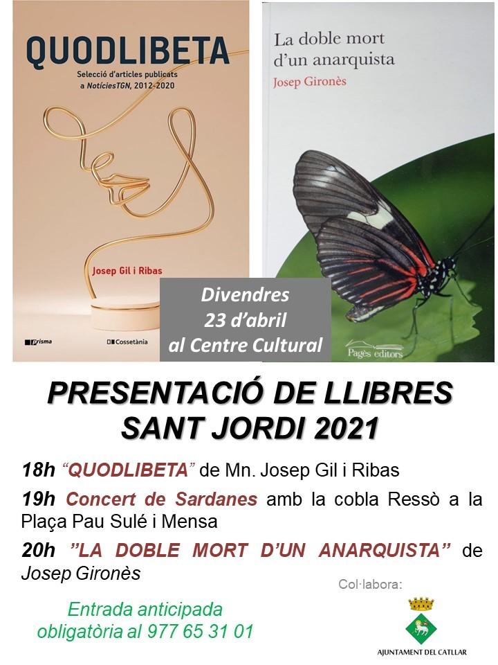PRESENTACIÓ DE LLIBRES - SANT JORDI 2021