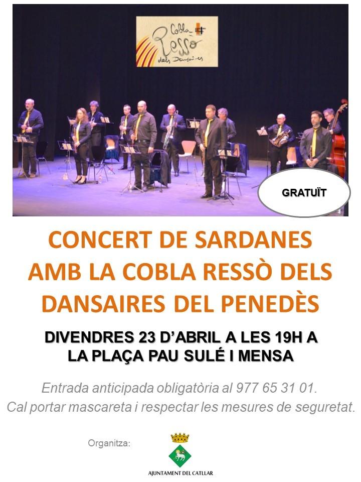 """CONCERT DE SARDANES AMB LA """"COBLA RESSÒ"""" DEL PENEDÈS"""