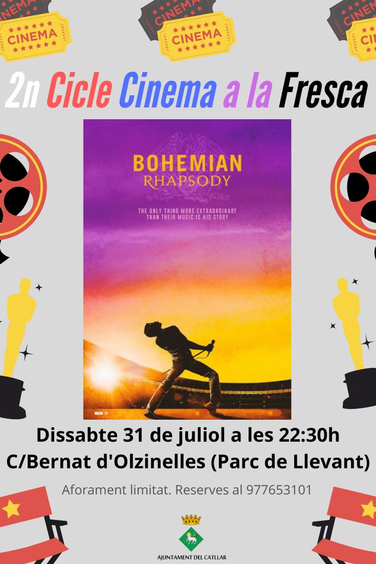 """II CICLE DE CINEMA A LA FRESCA - """"BOHEMIAN RHAPSODY"""""""