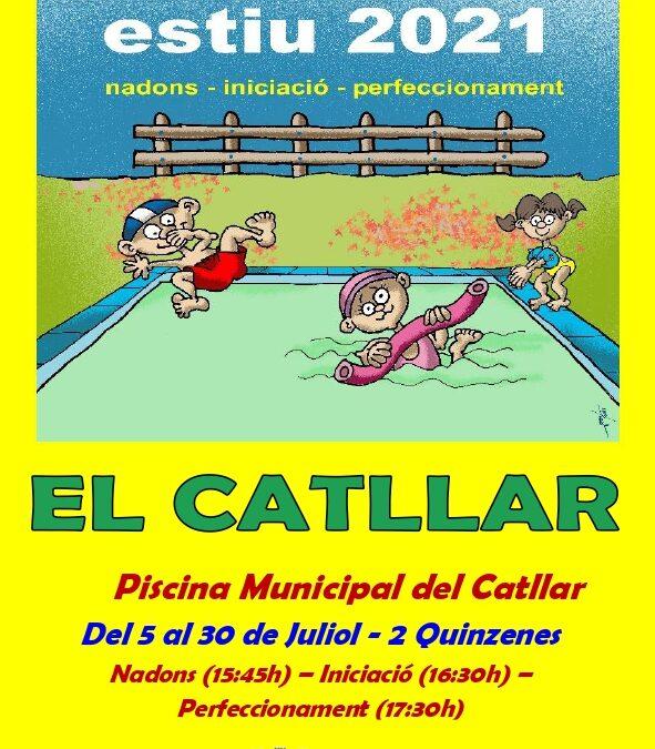 CURSETS DE NATACIÓ ESTIU 2021 EL CATLLAR