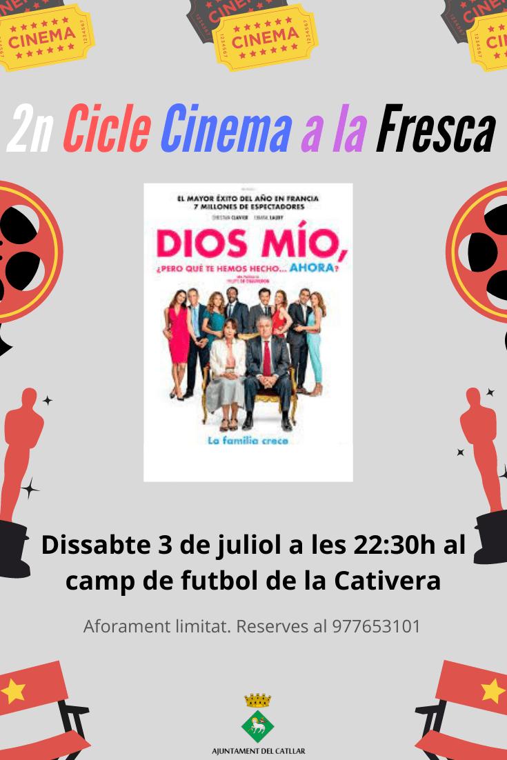 """II CICLO CINE AL FRESCO – """"DIOS MÍO, PERO QUÉ TE HEMOS HECHO AHORA"""""""