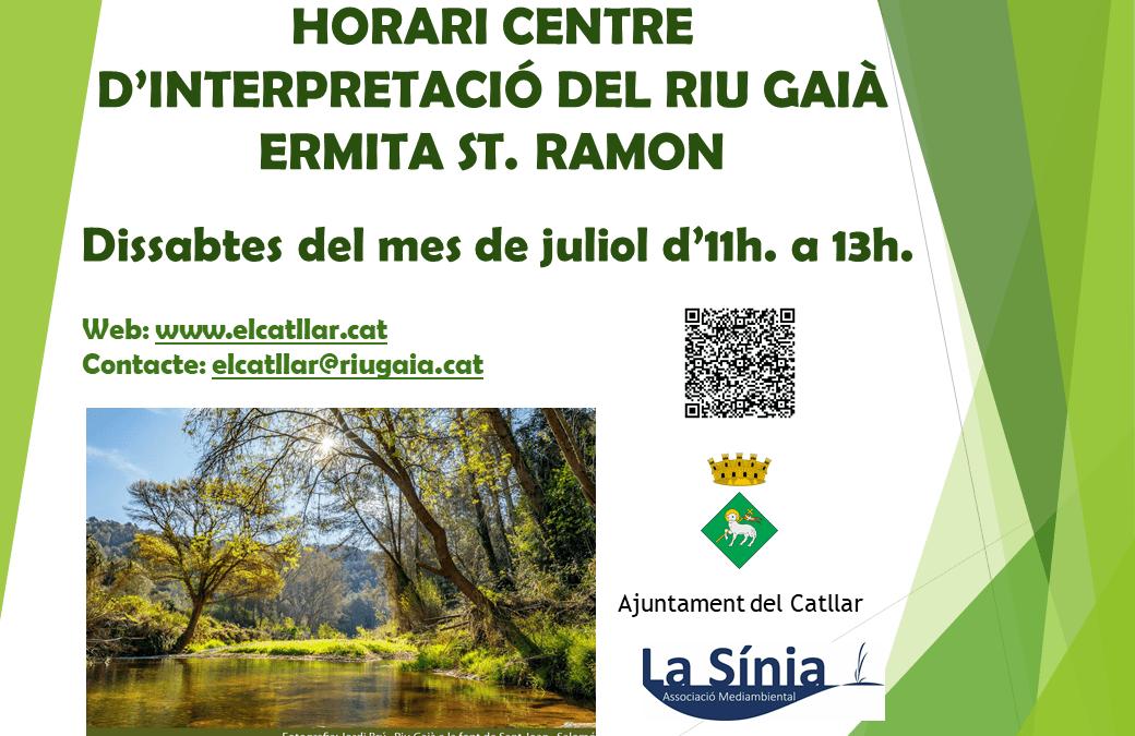 CENTRE INTERPRETACIÓ RIU GAIÀ – ERMITA ST. RAMON
