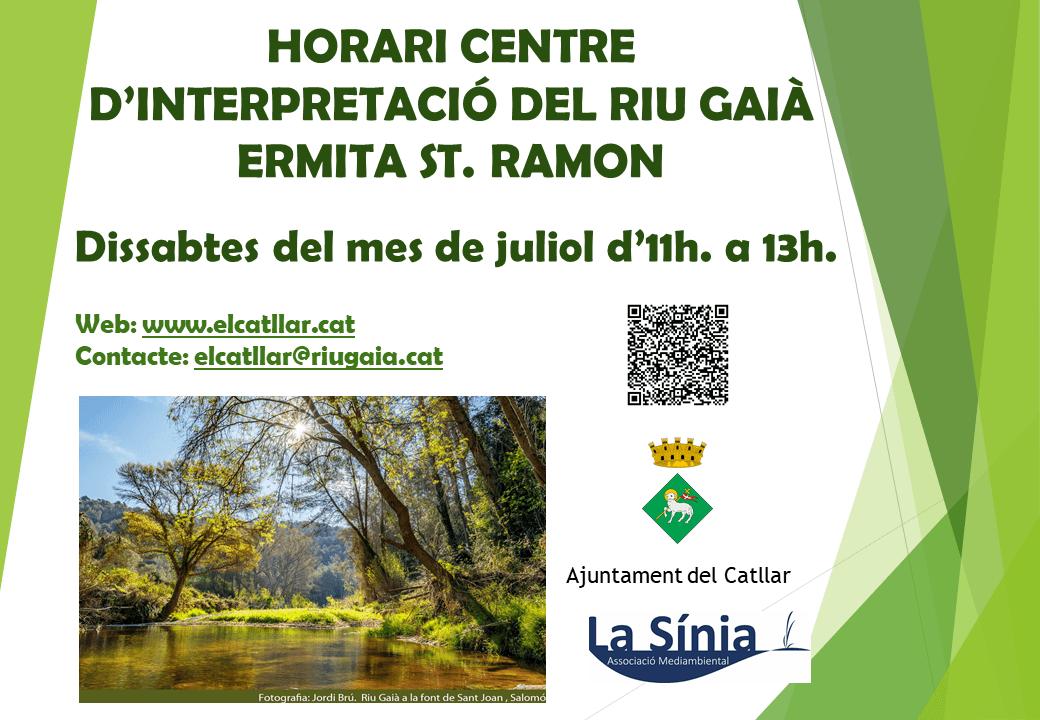 CENTRE INTERPRETACIÓ RIU GAIÀ - ERMITA ST. RAMON