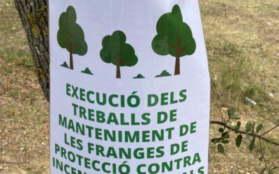 MANTENIMENT DE LES FRANGES DE PROTECCIÓ I MESURES CONTRA INCENDIS