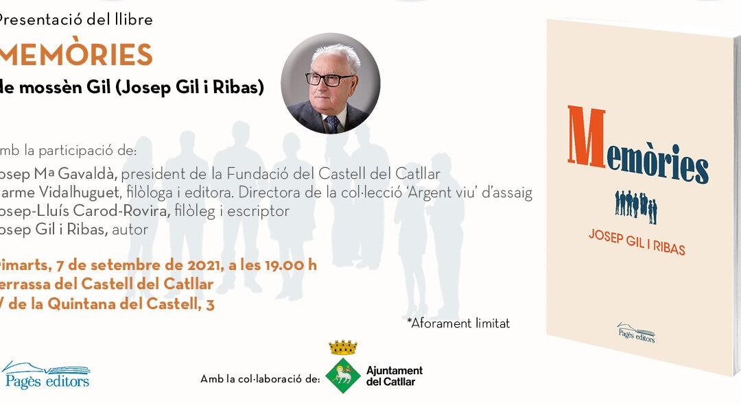 """PRESENTACIÓ DEL LLIBRE """"MEMÒRIES"""" DE MOSSÈN GIL"""