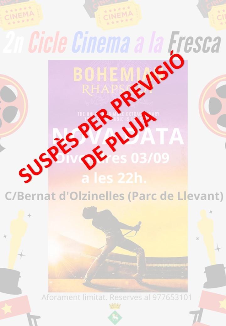 SUSPÈS EL CINEMA A LA FRESCA D'AVUI A PARC DE LLEVANT