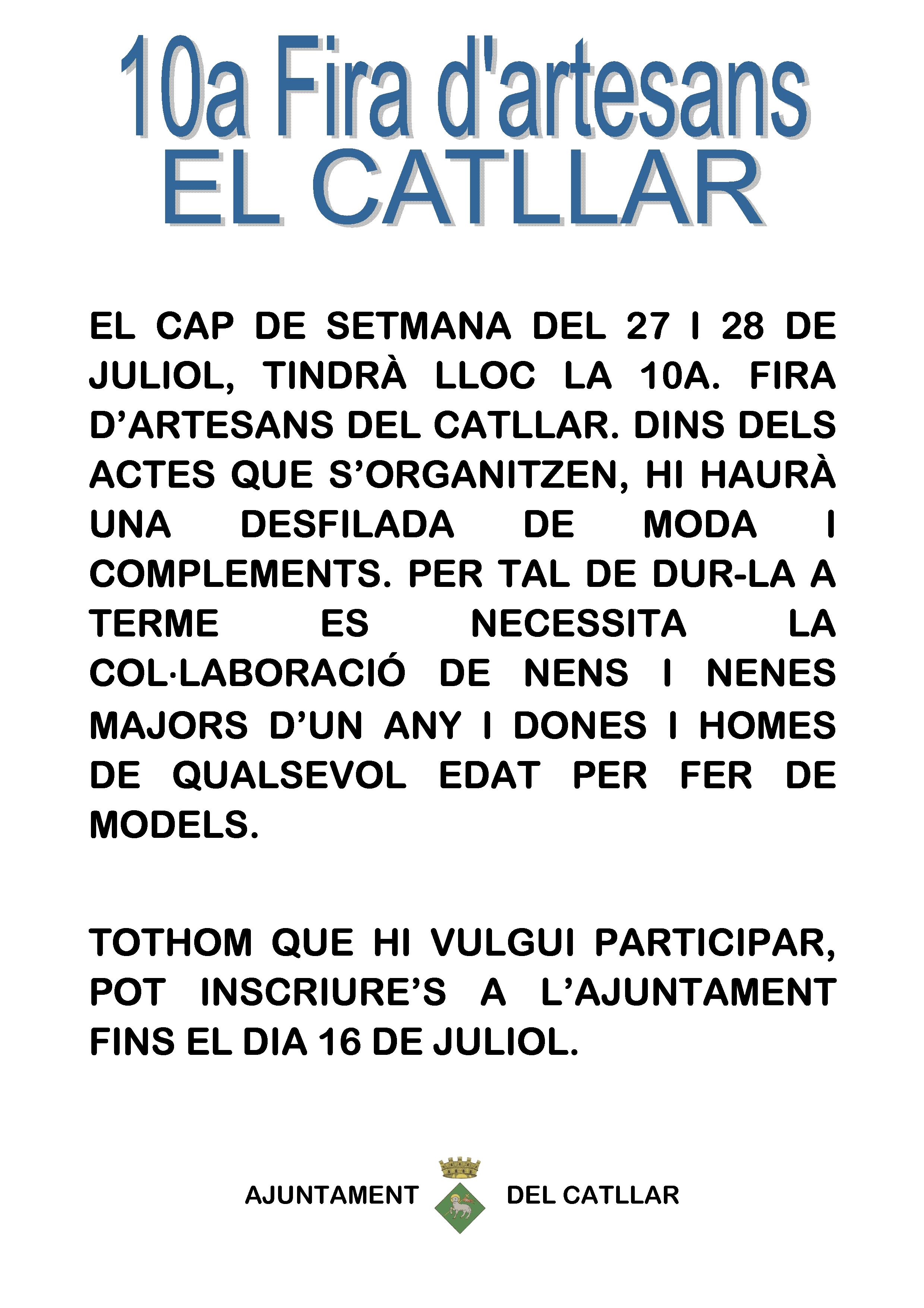 DESFILADA FIRA ARTESANOS EL CATLLAR