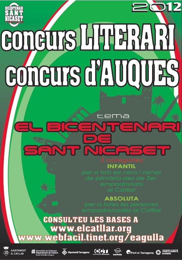 """CONCURS LITERARI """"BICENTENARI SANT NICASET"""""""