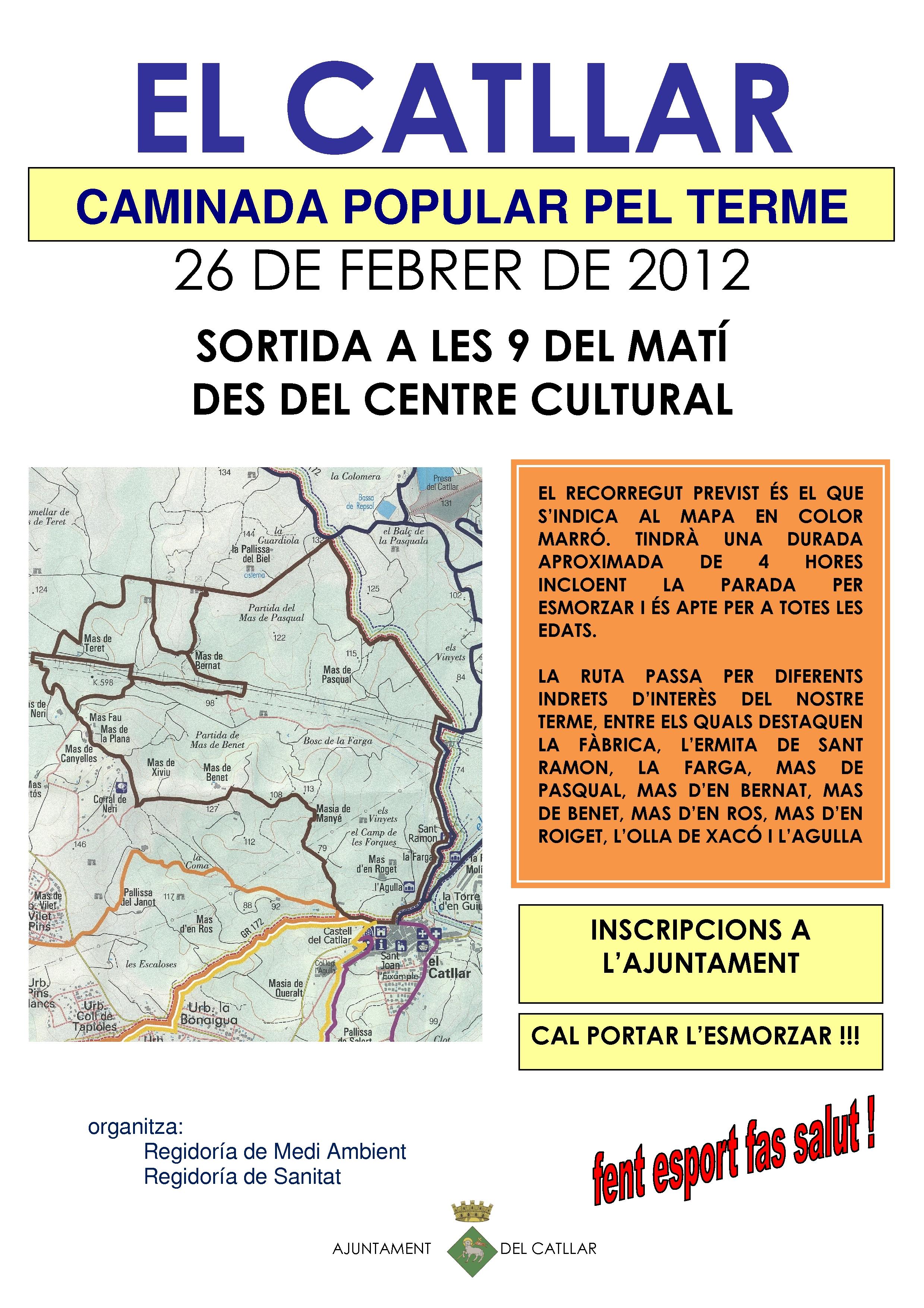 CAMINATA POPULAR POR EL TÉRMINO MUNICIPAL