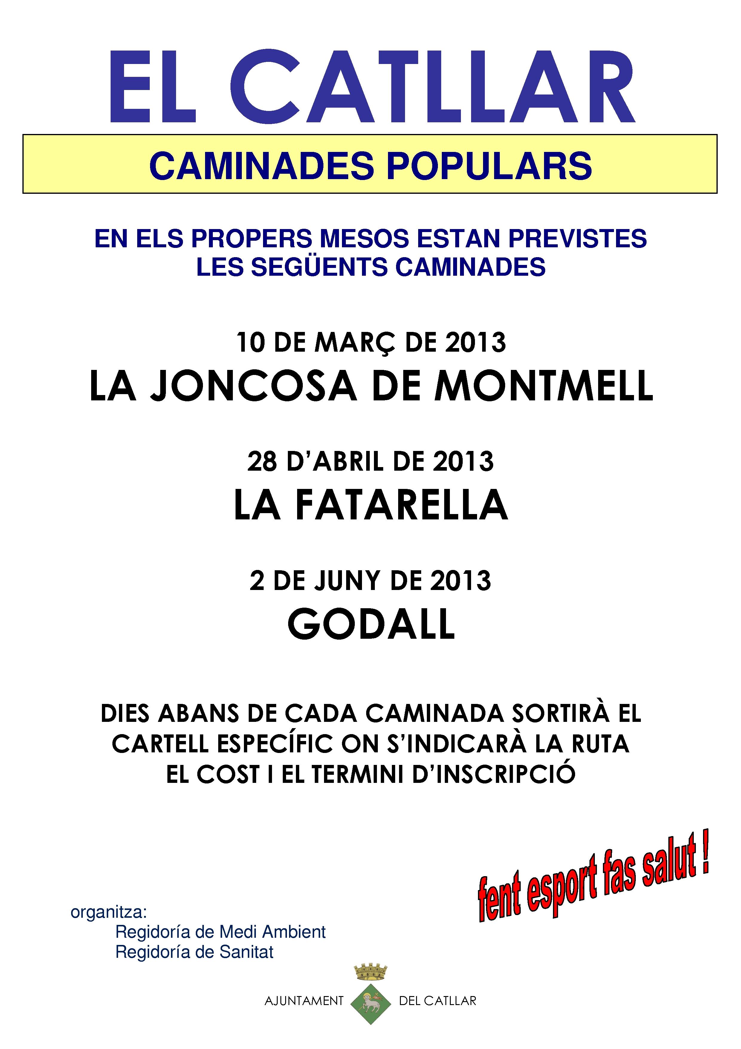 CAMINATAS POPULARES PREVISTAS