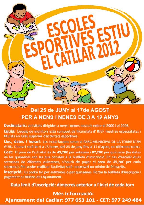 ESCUELAS DEPORTIVAS VERANO EL CATLLAR 2012