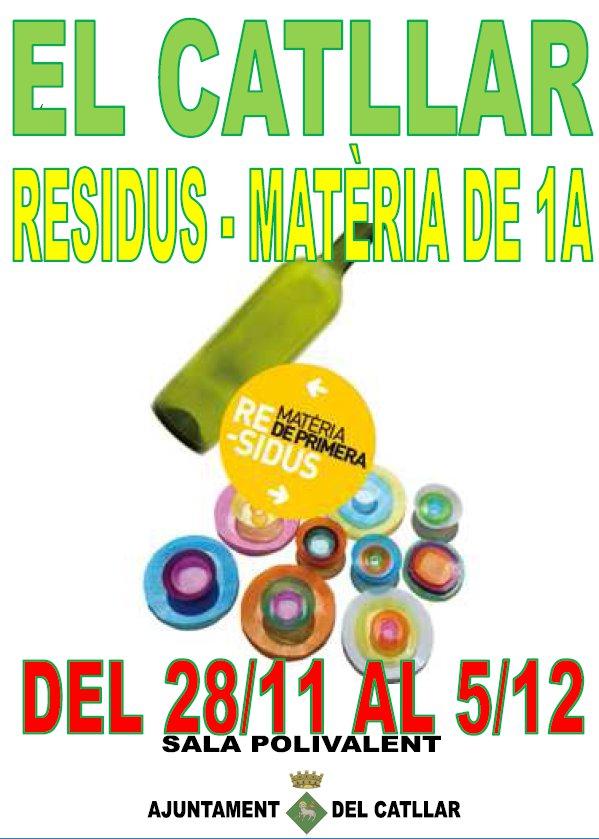 """EXPOSICIÓN """"RESIDUOS-MATERIA DE 1A"""""""