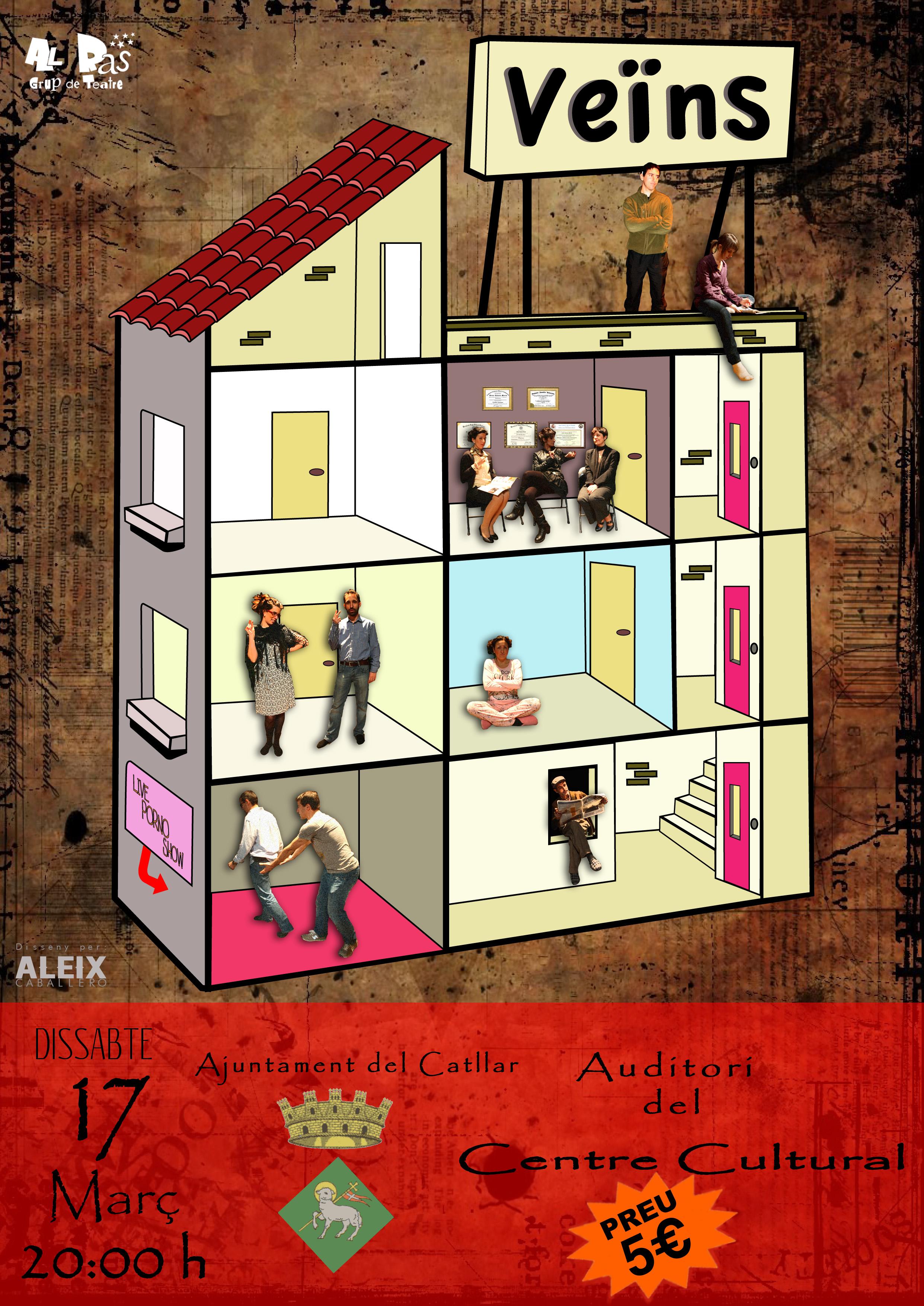 """Representación teatral de la obra """"VEÏNS"""" al Centro Cultural"""