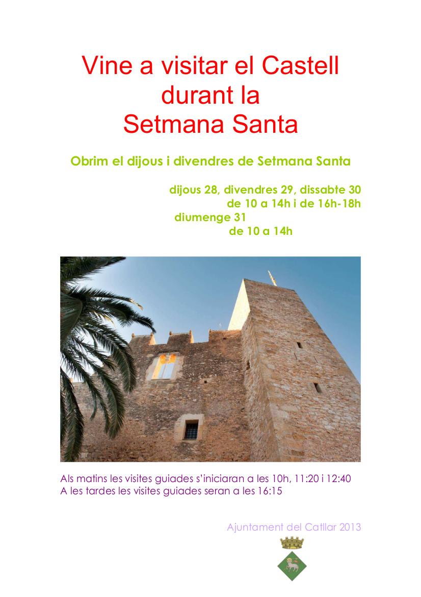 Ven a visitar el Castillo durante la Semana Santa