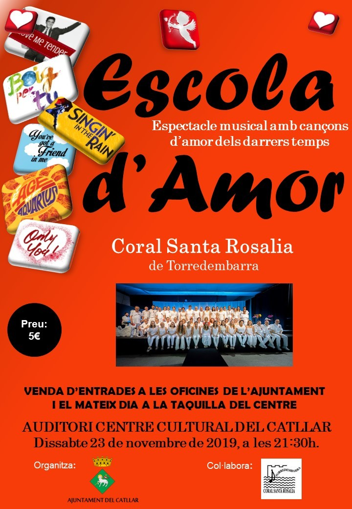 ESPECTACLE MUSICAL AMB CANÇONS D'AMOR DELS DARRERS TEMPS AMB LA CORAL SANTA ROSALIA