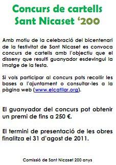 Concurso de carteles de San Nicaset '200