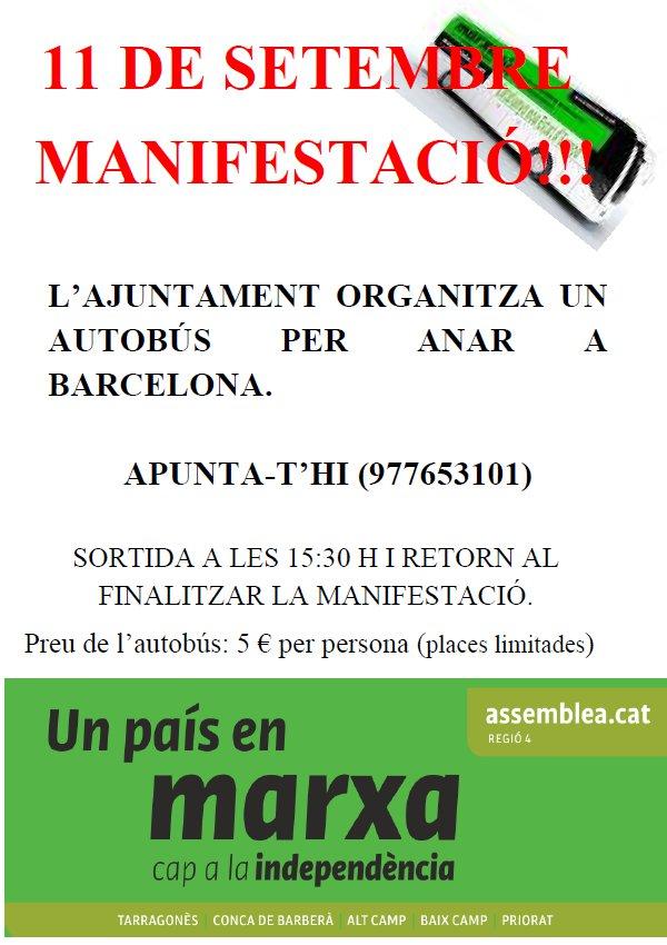 MANIFESTACIÓN 11 DE SEPTIEMBRE