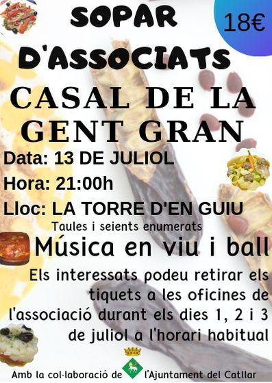 SOPAR DE GERMANOR DEL CASAL DE LA GENT GRAN
