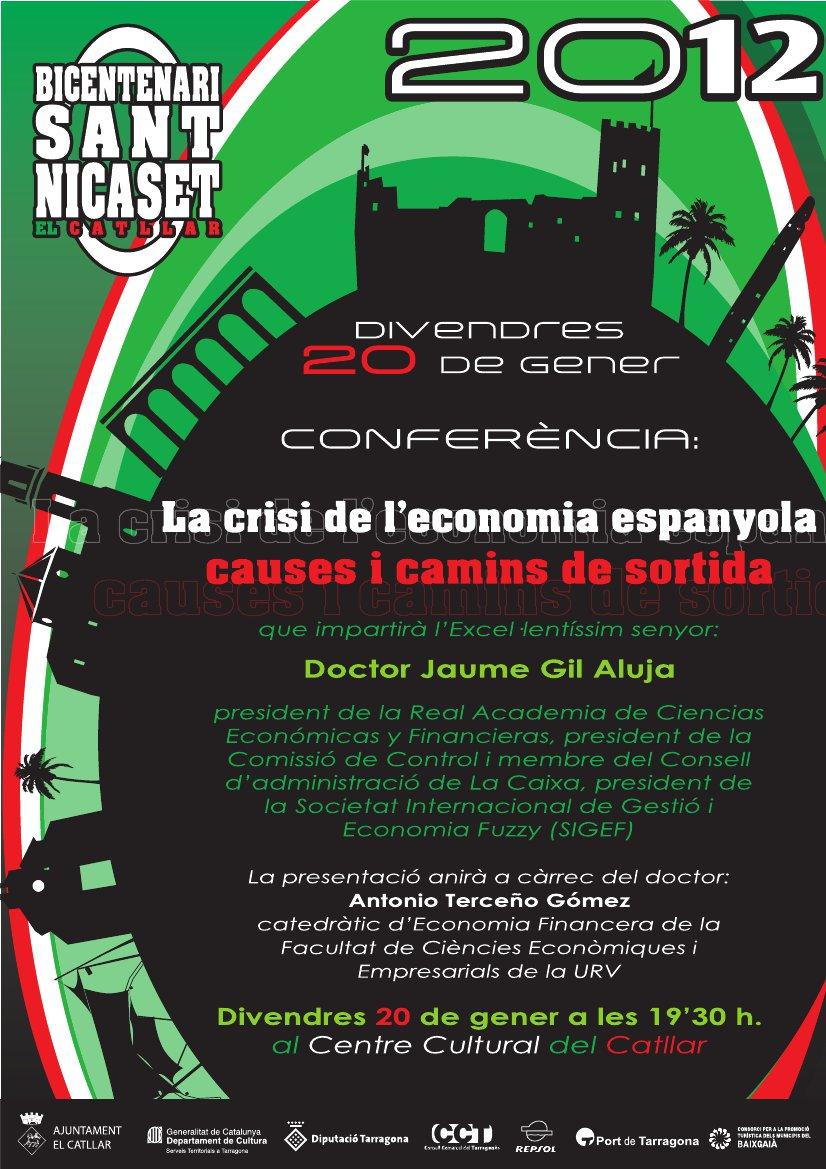 """Conferencia: """"La crisis de la economía española"""""""